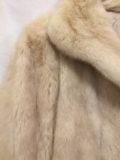 Koslow Fur Coat White Womens Size Medium