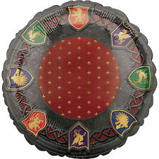 Medieval Balloon Party Decoration Wizard Party Heraldry Sheilds Medieval Banquet