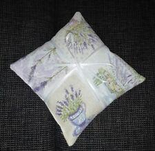 Lavendelkissen, Lavendelsäckchen, Aromatherapie, Entspannung,14x14 cm,Handarbeit