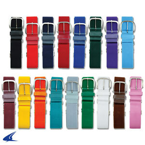 Adjustable Baseball Softball Belt Leather Tabs in Adult or Youth Size 20+ Colors