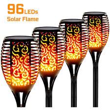 Solarleuchte Fackeln 96 LED Garten Beleuchtung Lampe Fackel Flamme BLITZVERSAND