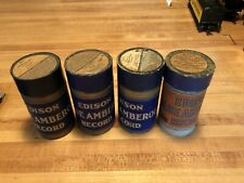 New ListingEdison Cylinder Records Lot Of 4 Blue Amberol with Case