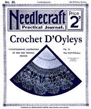Needlecraft Practical Journal #50 c.1906 Vintage Crochet Doily Patterns