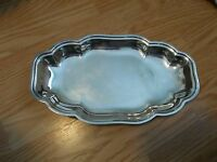 Vintage Silverplate Oval Footed Serving Dish Tray
