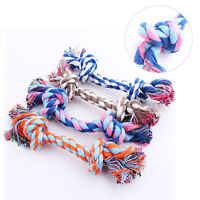Hot Cotton Knot Braided Pet Puppy Dog Teeth Health Clean Chew Toys Rope Colorful