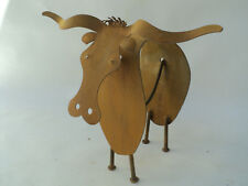 Longhorn abstract kinetic metal sculpture by Tihany