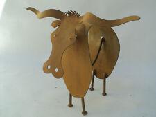 Texas Longhorn Steer Abstracto Escultura Cinética de metal por Tihany