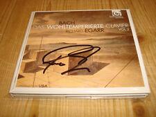 Signed Signiert RICHARD EGARR Bach Well Tempered Clavier II HARMONIA MUNDI 2 CD