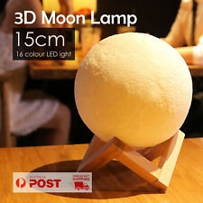 Dimmable 3D Galaxy Moon Lamp USB LED Magical Moon Night Light luna Table 15cm