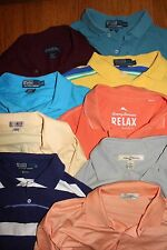 Lot of 9 Men's Size L Polo Shirts~PRL~ Brooks Brothers~Tommy Bahama~Peter Millar