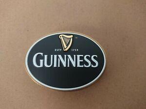#O320 GUINNESS OVAL BAR BADGE, pub,font,tbar,mancave, beer