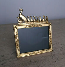 Elias Fine Gold Leaf Pewter & Silver Photo Picture Frame Duck with Ducklings 3x4