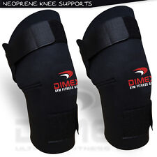 New Neoprene Black Knee Supports Brace Stabilizer Guard Sports Wraps Red - PAIR