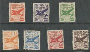 z238 BOLIVIA Sc C130-C136 MNH 25th Anniv. of the Founding Lloyd Aero 1950