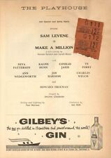 MAKE A MILLION  Playbiill from The Playhouse Theatre (1959) w/ ticket stub