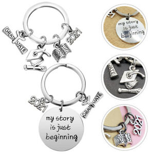 2pcs Key Chains Key Pendants Crafted Graduation Gifts for Graduation