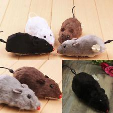 2016 Wind Up Running Mouse Rat Move Tail Cat Kitten Prank Toys kids Joking Gag