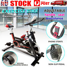 Fitness Exercise Spin Bike 8kg Flywheel Commercial Indoor Home Gym LCD Machine