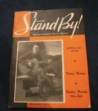 New listing Stand By! Prairie Farmers Radio Weekly April 20 1935 Red Foley ,Radio Rules Air