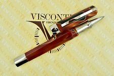 Visconti Opera Vertigo Black & Orange Caramel Swirl Palladium Rollerball Pen