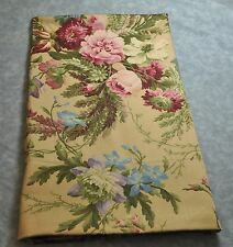New King Pillowcase made with Ralph Lauren Adriana Pink Rose Floral Brown Fabric