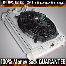 "2 Row Radiator 12"" Fan + Shroud for 96-00 Civic DX/HX Coupe 1.6L Automatic ONLY"