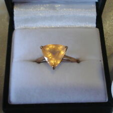 2.68ct Certified Rare Sunset Amethyst Trillion Gold Ring