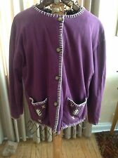 Vintage Segrets Sun Prints sweater jacket Size L1990's EMBROIDERY IS OUTSTANDING