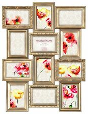Multi Aperture Photo Picture Frame Holds 12X Photos of 6''X4'' Vintage Gold