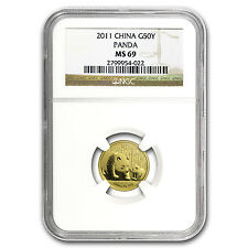 2011 China 1/10 oz Gold Panda MS-69 NGC - SKU #94126