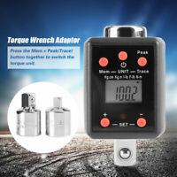 "1/2"" Drive 10-200Nm Digital Torque Wrench Adaptor w.1/4"" & 3/8"" Socket Adapter"