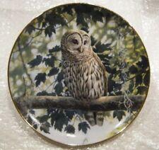 Shady Retreat-The Owls of North America-The Danbury Mint-No B3703-1994-Nwob