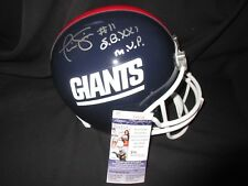 PHIL SIMMS SIGNED NEW YORK GIANTS FULL SIZE RIDDELL HELMET w/ SB XXI MVP JSA COA