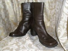 VTG WHITE MT. BROWN LEATHER ANKLE BIKER PANTS BOOTS SIZE: 8.M  STYLE: SYLVIA