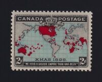 Canada Sc #86 (1898) 2c black, blue & carmine Map Stamp Mint VF NH