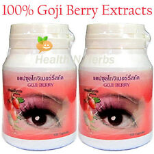200 GOJI BERRIES WOLFBERRY CAPSULES for SUPER EYES TONIC & ANTIOXIDANT