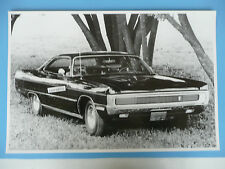 1970 Plymouth Fury 440 GT 2 Door Hardtop 12 X 18 Black & White Picture *