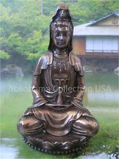 Feng Shui Asian Kuan Yin Kannon Goddess of Marcy Buddha Lady Bronze Statue/1918