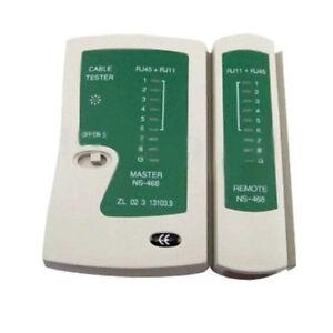 Network Tester Ethernet Cable Testing Tool Kit Toolkit Cat5 Cat5e RJ11 LAN UK
