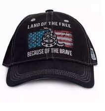 Because of the Brave U.S. Flag Hat Buck Wear - NEW