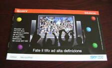 Catalogo Sony bravia depliant brochure tv lcd full hd ready dvd home cinema