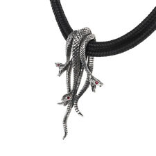 Hydra Necklace by Alchemy Snakes Halloween Gothic Jewelry Evil Serpents
