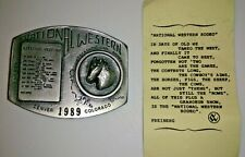 83rd Annual Belt Buckle #61/200 Limited National Western Stock Show Rodeo 1989