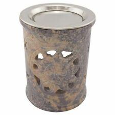Räucherstövchen SONNE aus indischem Speckstein mit Edelstahlsieb + Metallscheibe