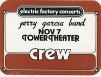 GRATEFUL DEAD BACKSTAGE PASS JERRY GARCIA 11-07-82 TOWER NOT TICKET CREW MINT
