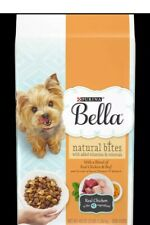 Purina Bella Natural Bites For Small Dogs Adult Dry Dog Food - 2 (3 pound bags)
