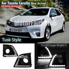 LED Daytime Running Light For Toyota Corolla Tusk Style Fog Lamp DRL 2014 2015