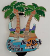 Hard Rock Cafe 2 Palm Trees  Beach Club  Choctaw MS Double Neck guitar pin LE