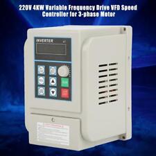 AC220V 4kW Variateur de Fréquence VFD Monophasé 20A Vitesse Contrôleur Inverseur