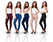 Ladies Pull On Stretch Denim Look Womens Skinny Leggings Cotton Slim Jeggings